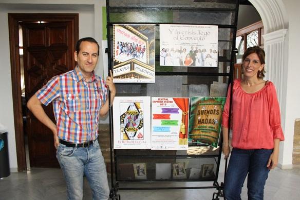 Juan Corpas y Delia Gómez en el acto de presentación.