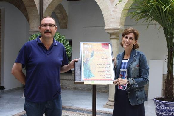 Miguel Cano y Delia Gómez, en la presentación del Gazpacho Flamenco.