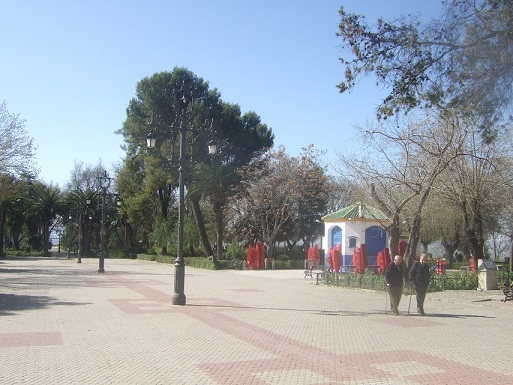 Paseo de Jesús, en Porcuna.