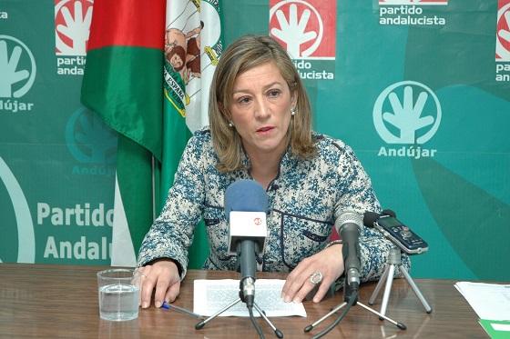 La secretaria local andalucista, Encarna Camacho.