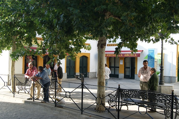 Vista de la localidad de Marmolejo.