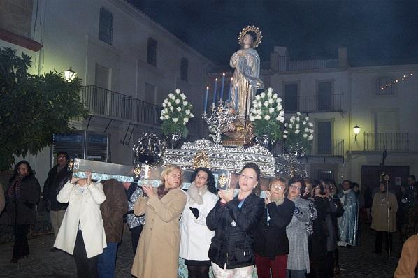 La patrona de Lopera no faltó a su cita anual con las calles de la localidad.
