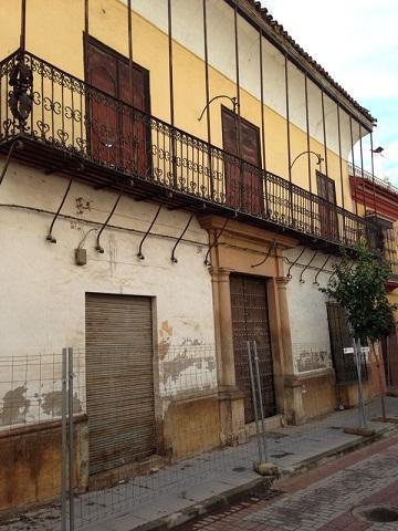 Estado actual del Palacio del Ecijano, en Andújar.