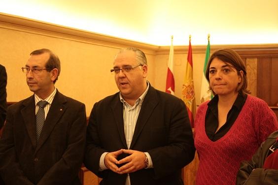 Juan Antonio Sáez Mata, Jesús Estrella y Elena Cortés.