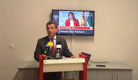 Francisco Huertas,  ayer durante la rueda de prensa.