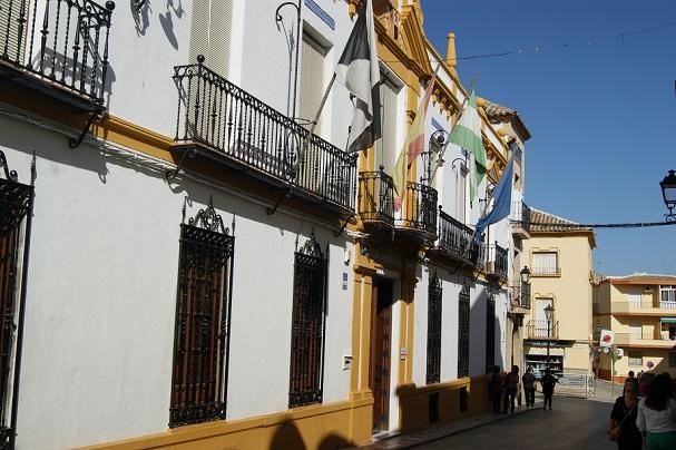 Fachada del Ayuntamiento de Arjonilla.