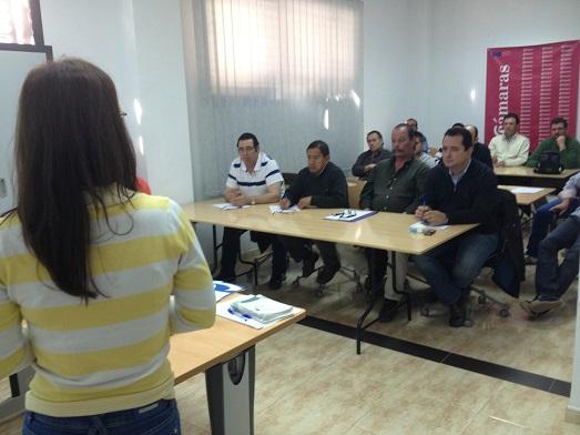 Asistentes al curso para la obtención de la TPC, en Andújar.
