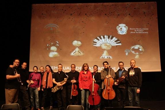 Actividad musical desarrollada en el Teatro Principal de Andújar.