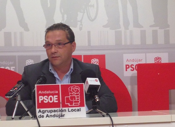 El portavoz del PSOE en Andújar, Francisco Huertas.