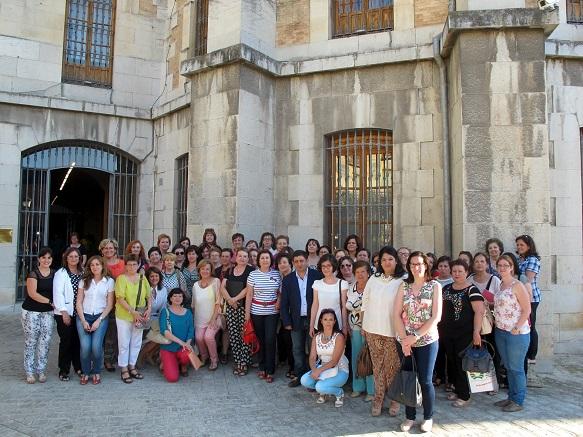 Francisco Reyes, en el centro, con miembros de las asociaciones que forman parte de este Consejo Provincial de Igualdad y Participación.