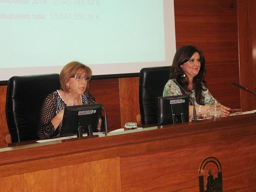 Purificación Gálvez y Yolanda Caballero presentan el programa de actuaciones.
