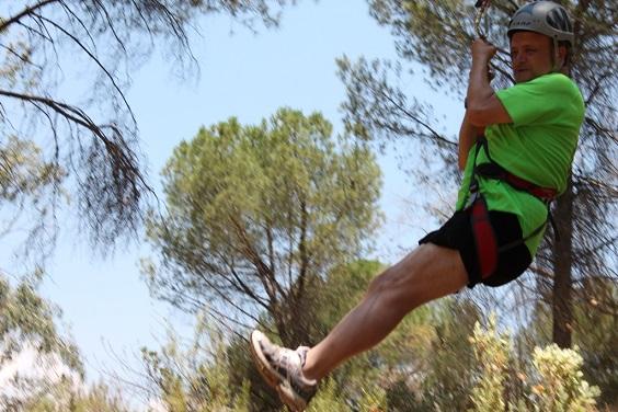 Actividades deportivas en la Sierra de Andújar.