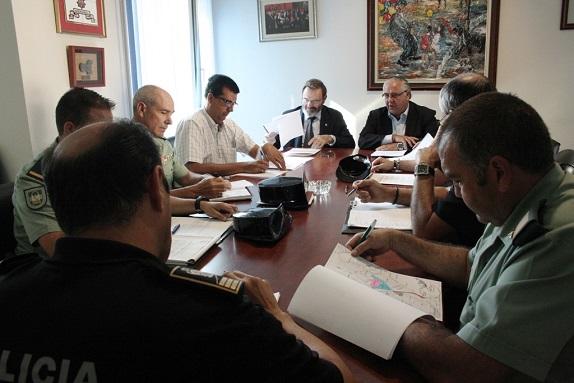 Reunión de la Junta Local de Seguridad en el Palacio Municipal de Andújar.