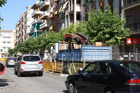 Calle Corredera de Capuchinos, en Andújar.