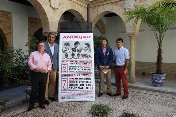 Acto de presentación del Cartel taurino de la Feria de Andújar 2014.