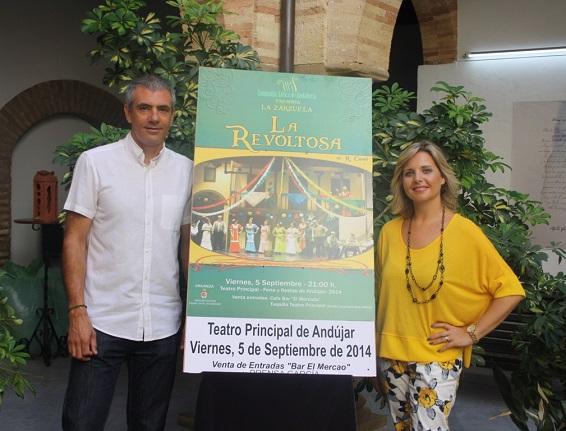 """Acto de presentación en Andújar de la zarzuela """"La Revoltosa""""."""