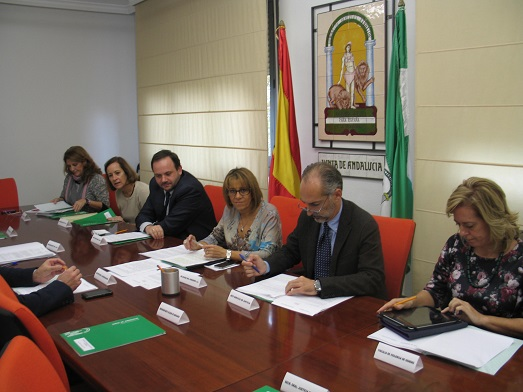 Encuentro entre profesionales y representantes de instituciones implicados en la atención a mujeres y menores víctimas de violencia de género.