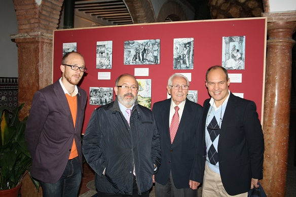 J. Manu Pedrajas, Enrique Gómez Martínez, Pedro Palenciano Ruíz y Pedro Palenciano Olivares.