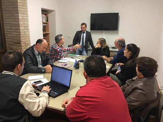 Acto de constitución del comité electoral del PSOE de Andújar.