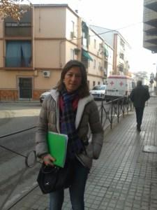 Encarna Camacho en la calle Lope de Vega.