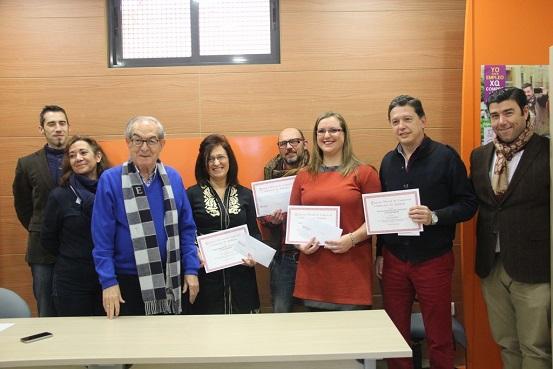 Los ganadores en la XXI edición del Concurso de Escaparates Navideños, de Andújar.