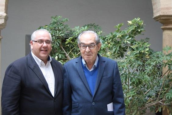 El alcalde de Andújar, Jesús Estrella, y el presidente de la Cámara de Comercio de Andújar, Eduardo Criado.