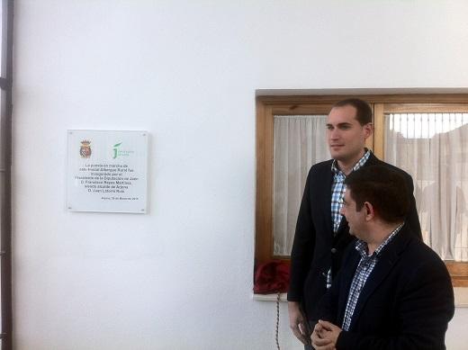 Juan Latorre y Francisco Reyes durante la inauguración de esta nueva infraestructura.