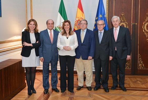 Susana Díaz, en el encuentro con el Consejo Andaluz de Cámaras de Comercio (CACC).