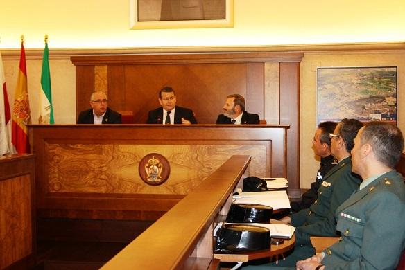 Antonio Sanz y Juan Lillo presidieron la reunión de coordinación con las Fuerzas y Cuerpos de Seguridad del Estado.