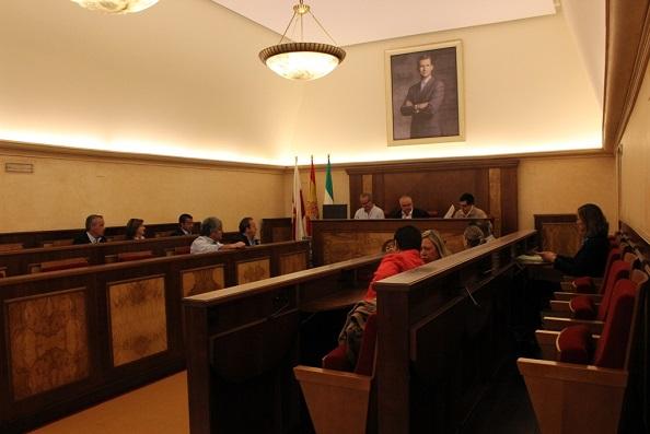 Pleno extraordinario celebrado por el Ayuntamiento de Andújar.
