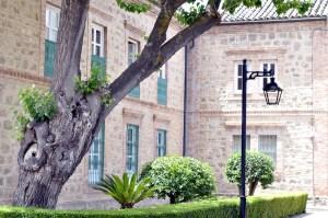 Instalaciones de la Casería Escalona en Jaén, que ubica los servicios centrales de Recaudación.