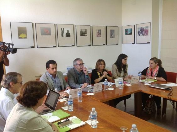 Purificación Gálvez, Carmen Cuello,  Joan Carles March y Raúl Perales, en el desarrollo de estas jornadas.