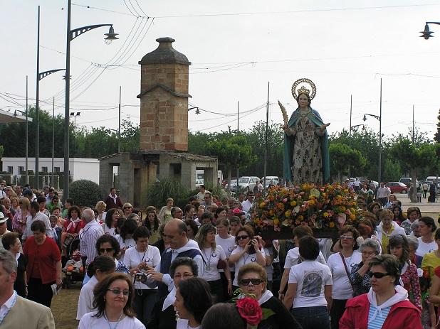 Una anterior edición de esta popular romería que se celebra en Villanueva de la Reina.