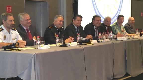 El delegado del Gobierno en Andalucía, Antonio Sanz, en la clausura del III Curso de Coordinación de Operaciones del Centro de Inteligencia contra el Terrorismo y el Crimen Organizado (CITCO).