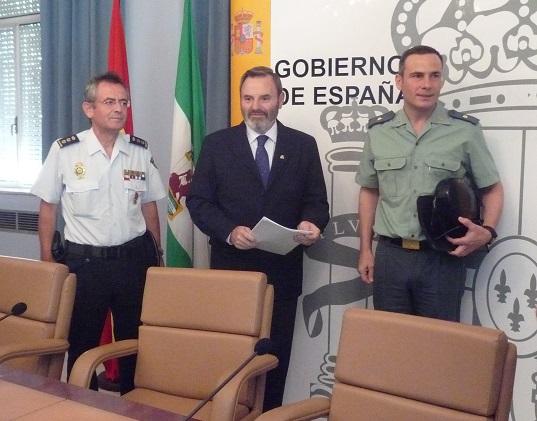 Juan Lillo, Antonio García y Jesús Herranz han presentado el Balance de Criminalidad.