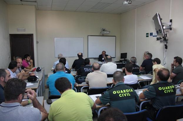 Los agentes de seguridad de Andújar asisten a este curso.