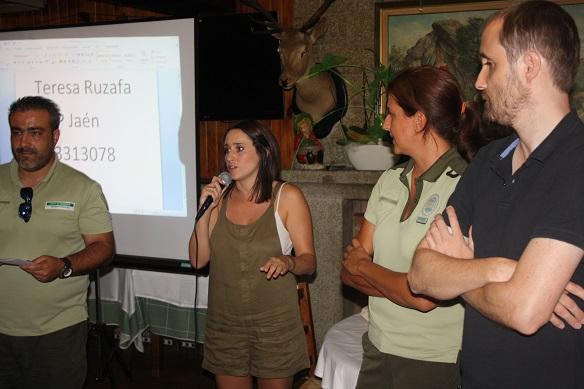 Un momento de la charla sobre prevención de incendios celebrada en Andújar.