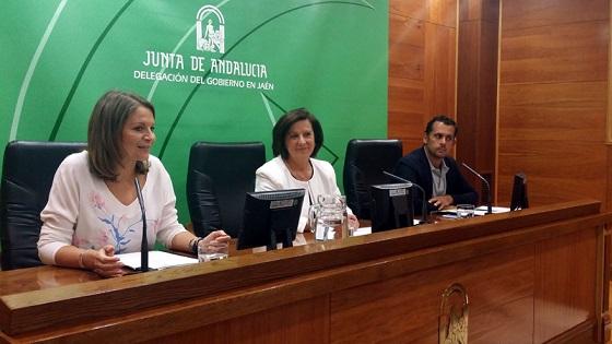 María José Sánchez Rubio, durante la presentación del programa formativo del IAJ, en Jaén.