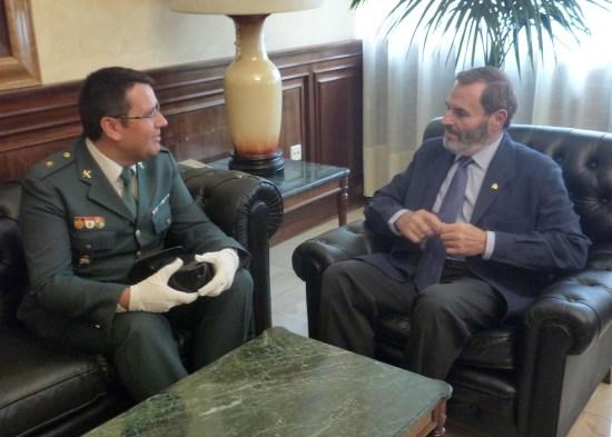 El subdelegado del Gobierno, Juan Lillo, ha recibido hoy a Francisco José Lozano Cerdán.