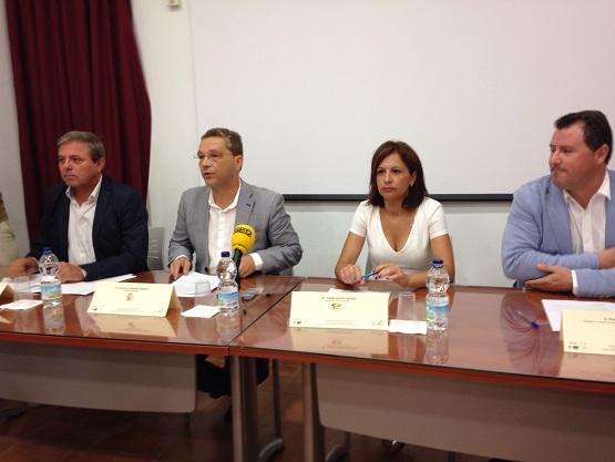 Acto de presentación del Encuentro Profesional de Empresarios de la Campiña Norte de Jaén.