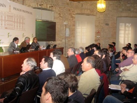 Reunión celebrada ayer en el Palacio Provincial.