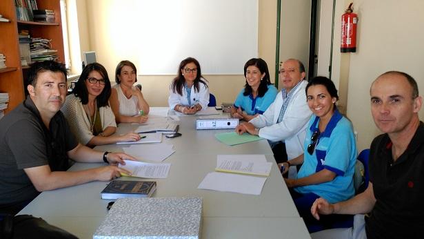 Acto de constitución de la comisión sobre lactancia materna, en Andújar.