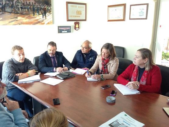Primera sesión de trabajo de una mesa de coordinación del Parque Público de vivienda, en Andújar.