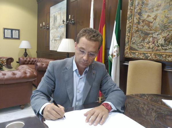 El alcalde de Andújar, Francisco Huertas.