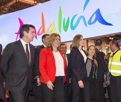 Susana Díaz asistió en Madrid a la inauguración de Fitur, presidida por la Reina. Foto: Junta Andalucía.