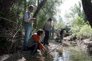 Voluntarios del programa 'Andarríos'. Foto: Junta Andalucía.