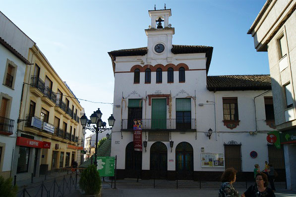 Una vista del casco histórico de Marmolejo.