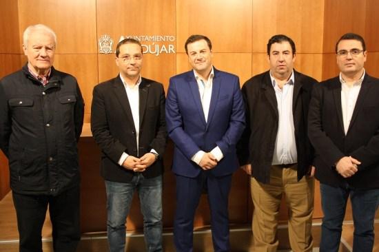 Ramón Colodrero, Francisco Huertas, Francisco Javier Oliver, Guillermo Cervera y Pedro Luis Rodríguez. Foto: Ayto. Andújar.
