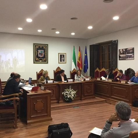 La delegada del Gobierno, Ana Cobo, presidió la reunión de la junta rectora del Parque Natural Sierra de Andújar.