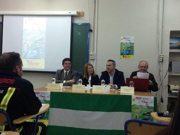 Acto de inauguración de las XXVII Jornadas Escolares de Educación Vial, en Andújar.